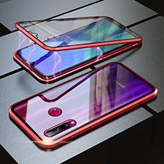 Funda Bumper Lujo Marco de Aluminio Espejo 360 Grados Carcasa para Huawei Honor 20 Lite Rojo