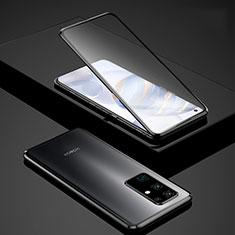Funda Bumper Lujo Marco de Aluminio Espejo 360 Grados Carcasa para Huawei Honor 30 Negro
