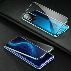 Funda Bumper Lujo Marco de Aluminio Espejo 360 Grados Carcasa para Huawei Honor X10 5G Verde