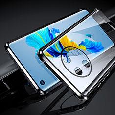 Funda Bumper Lujo Marco de Aluminio Espejo 360 Grados Carcasa para Huawei Mate 40 Negro