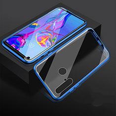 Funda Bumper Lujo Marco de Aluminio Espejo 360 Grados Carcasa para Huawei Nova 5i Azul