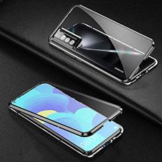Funda Bumper Lujo Marco de Aluminio Espejo 360 Grados Carcasa para Huawei Nova 7 5G Negro
