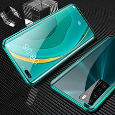 Funda Bumper Lujo Marco de Aluminio Espejo 360 Grados Carcasa para Huawei Nova 7 Pro 5G Verde