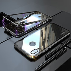 Funda Bumper Lujo Marco de Aluminio Espejo 360 Grados Carcasa para Huawei P20 Lite Negro