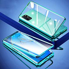 Funda Bumper Lujo Marco de Aluminio Espejo 360 Grados Carcasa para OnePlus 8T 5G Verde