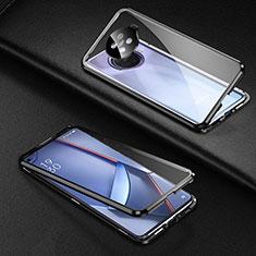 Funda Bumper Lujo Marco de Aluminio Espejo 360 Grados Carcasa para Oppo Ace2 Negro