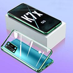 Funda Bumper Lujo Marco de Aluminio Espejo 360 Grados Carcasa para Oppo K7x 5G Verde