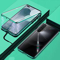 Funda Bumper Lujo Marco de Aluminio Espejo 360 Grados Carcasa para Realme X3 SuperZoom Verde