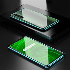 Funda Bumper Lujo Marco de Aluminio Espejo 360 Grados Carcasa para Realme X50 Pro 5G Verde