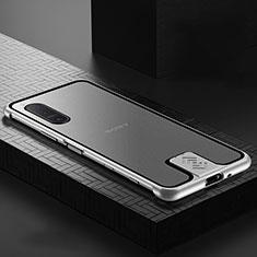 Funda Bumper Lujo Marco de Aluminio Espejo 360 Grados Carcasa para Sony Xperia 5 II Plata