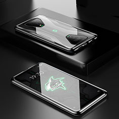 Funda Bumper Lujo Marco de Aluminio Espejo 360 Grados Carcasa para Xiaomi Black Shark 3 Negro