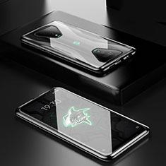 Funda Bumper Lujo Marco de Aluminio Espejo 360 Grados Carcasa para Xiaomi Black Shark 3 Pro Negro
