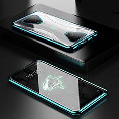 Funda Bumper Lujo Marco de Aluminio Espejo 360 Grados Carcasa para Xiaomi Black Shark 3 Pro Verde