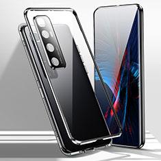 Funda Bumper Lujo Marco de Aluminio Espejo 360 Grados Carcasa para Xiaomi Mi 10 Ultra Negro