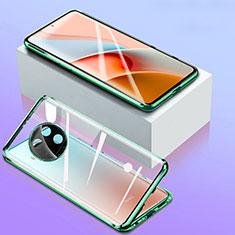 Funda Bumper Lujo Marco de Aluminio Espejo 360 Grados Carcasa para Xiaomi Mi 10i 5G Verde