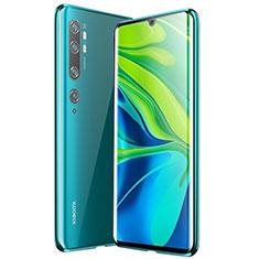 Funda Bumper Lujo Marco de Aluminio Espejo 360 Grados Carcasa para Xiaomi Mi Note 10 Verde
