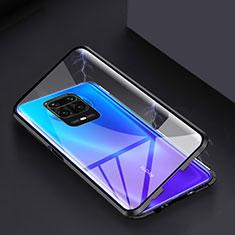 Funda Bumper Lujo Marco de Aluminio Espejo 360 Grados Carcasa para Xiaomi Poco M2 Pro Negro