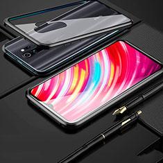 Funda Bumper Lujo Marco de Aluminio Espejo 360 Grados Carcasa para Xiaomi Redmi Note 8 Pro Negro
