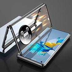 Funda Bumper Lujo Marco de Aluminio Espejo 360 Grados Carcasa T01 para Huawei Mate 40 Negro