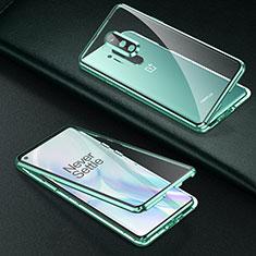 Funda Bumper Lujo Marco de Aluminio Espejo 360 Grados Carcasa T01 para OnePlus 8 Pro Verde