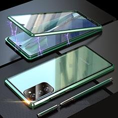 Funda Bumper Lujo Marco de Aluminio Espejo 360 Grados Carcasa T01 para Samsung Galaxy Note 20 5G Verde