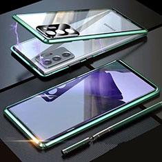 Funda Bumper Lujo Marco de Aluminio Espejo 360 Grados Carcasa T01 para Samsung Galaxy Note 20 Ultra 5G Verde
