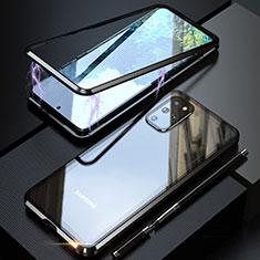 Funda Bumper Lujo Marco de Aluminio Espejo 360 Grados Carcasa T01 para Samsung Galaxy S20 Plus 5G Negro