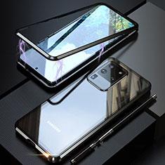 Funda Bumper Lujo Marco de Aluminio Espejo 360 Grados Carcasa T01 para Samsung Galaxy S20 Ultra 5G Negro
