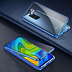 Funda Bumper Lujo Marco de Aluminio Espejo 360 Grados Carcasa T01 para Xiaomi Redmi 10X 4G Azul