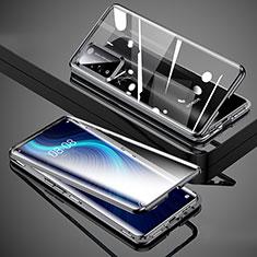 Funda Bumper Lujo Marco de Aluminio Espejo 360 Grados Carcasa T02 para Huawei Honor X10 5G Negro