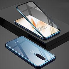 Funda Bumper Lujo Marco de Aluminio Espejo 360 Grados Carcasa T02 para OnePlus 8 Azul