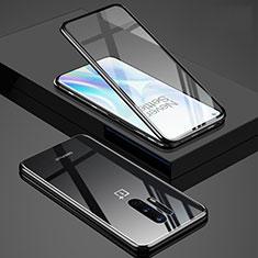 Funda Bumper Lujo Marco de Aluminio Espejo 360 Grados Carcasa T02 para OnePlus 8 Pro Negro