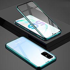 Funda Bumper Lujo Marco de Aluminio Espejo 360 Grados Carcasa T02 para Samsung Galaxy S20 Plus 5G Verde