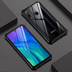 Funda Bumper Lujo Marco de Aluminio Espejo 360 Grados Carcasa T03 para Huawei Honor 20 Lite Negro