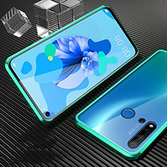 Funda Bumper Lujo Marco de Aluminio Espejo 360 Grados Carcasa T03 para Huawei Nova 5i Cian