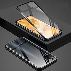 Funda Bumper Lujo Marco de Aluminio Espejo 360 Grados Carcasa T03 para Huawei P40 Lite Negro