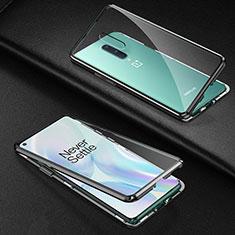 Funda Bumper Lujo Marco de Aluminio Espejo 360 Grados Carcasa T03 para OnePlus 8 Negro