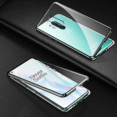 Funda Bumper Lujo Marco de Aluminio Espejo 360 Grados Carcasa T03 para OnePlus 8 Pro Negro