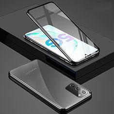 Funda Bumper Lujo Marco de Aluminio Espejo 360 Grados Carcasa T03 para Samsung Galaxy Note 20 5G Negro