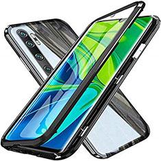 Funda Bumper Lujo Marco de Aluminio Espejo 360 Grados Carcasa T04 para Xiaomi Mi Note 10 Pro Negro