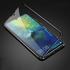 Funda Bumper Lujo Marco de Aluminio Espejo 360 Grados Carcasa T05 para Huawei Mate 20 Negro