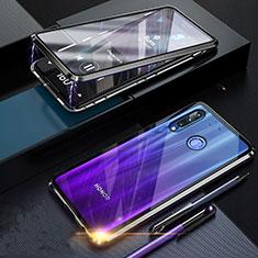 Funda Bumper Lujo Marco de Aluminio Espejo 360 Grados Carcasa T06 para Huawei Honor 20 Lite Negro