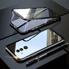 Funda Bumper Lujo Marco de Aluminio Espejo 360 Grados Carcasa T06 para Huawei Mate 20 Lite Negro