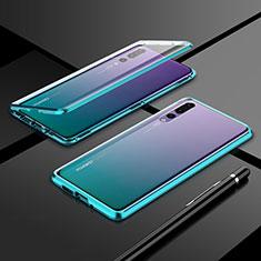 Funda Bumper Lujo Marco de Aluminio Espejo 360 Grados Carcasa T06 para Huawei P20 Pro Verde