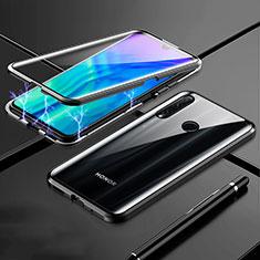Funda Bumper Lujo Marco de Aluminio Espejo 360 Grados Carcasa T07 para Huawei Honor 20 Lite Negro