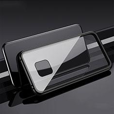 Funda Bumper Lujo Marco de Aluminio Espejo 360 Grados Carcasa T08 para Huawei Mate 20 Pro Negro