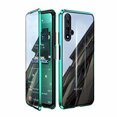 Funda Bumper Lujo Marco de Aluminio Espejo 360 Grados Carcasa T08 para Huawei Nova 5T Verde