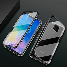 Funda Bumper Lujo Marco de Aluminio Espejo 360 Grados Carcasa T09 para Huawei Mate 20 Pro Negro