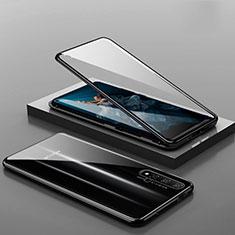 Funda Bumper Lujo Marco de Aluminio Espejo 360 Grados Carcasa T10 para Huawei Honor 20 Negro