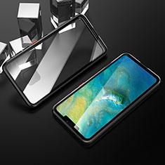 Funda Bumper Lujo Marco de Aluminio Espejo 360 Grados Carcasa T12 para Huawei Mate 20 Pro Negro
